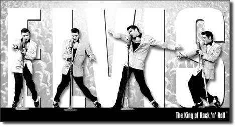 Elvis - King Montage Tin Sign