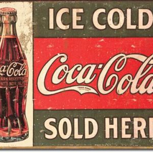 COKE - c.1916 Ice Cold Tin Sign