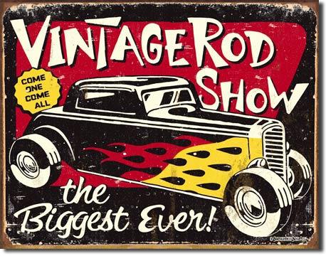 Schoenberg - Vintage Rodshow Tin Sign