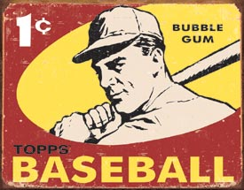Topps 1959 Baseball Tin Sign