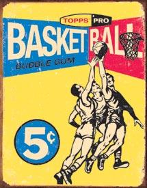 Topps 1957 Basketball Tin Sign