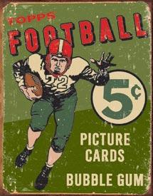 Topps 1956 Football Tin Sign