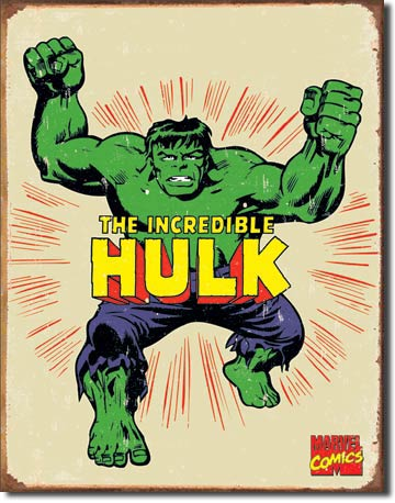 Incredible Hulk Retro Tin Sign