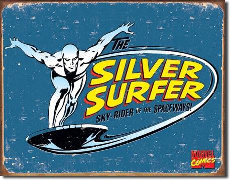 Silver Surfer Retro Tin Sign