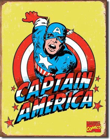 Captain America Retro Tin Sign