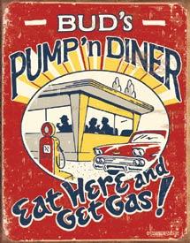 Schonberg - Pump 'n Diner Tin Sign