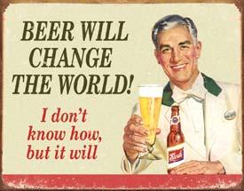 Ephemera - Beer Change Tin Sign