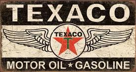Texaco Winged Logo Tin Sign