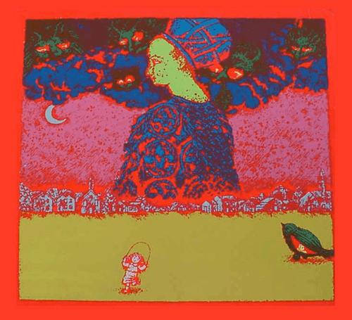Here I Am - Black Light Poster 1969