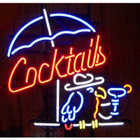Cocktails & Parrot Neon Sign