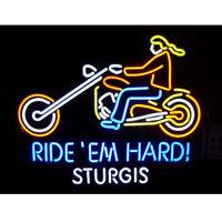 Ride 'Em Hard Sturgis Mototcyle Neon Sign