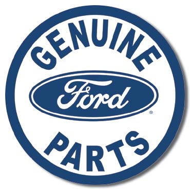Ford Parts Round Tin Sign