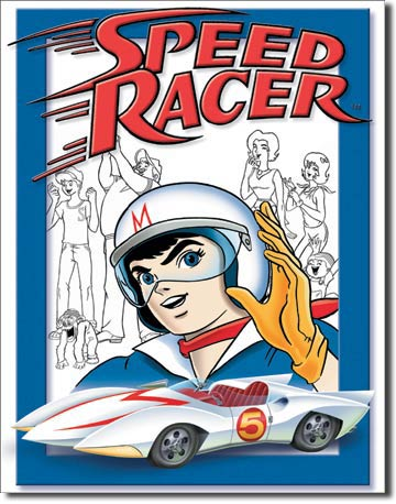 Speed Racer Gang Tin Sign