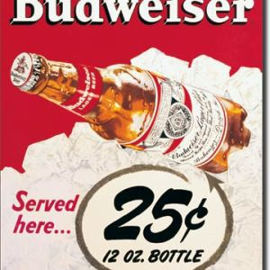 Budweiser Tin Sign