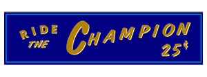 Ride The Champion Decal