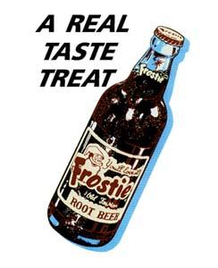 FRO-001 A Real Taste Treat Frostie Bottle Decal