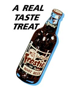 FRO-001 A Real Taste Treat Frostie Bottle Decal