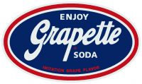 "Enjoy Grapette Soda - 4.25"" x 8"""