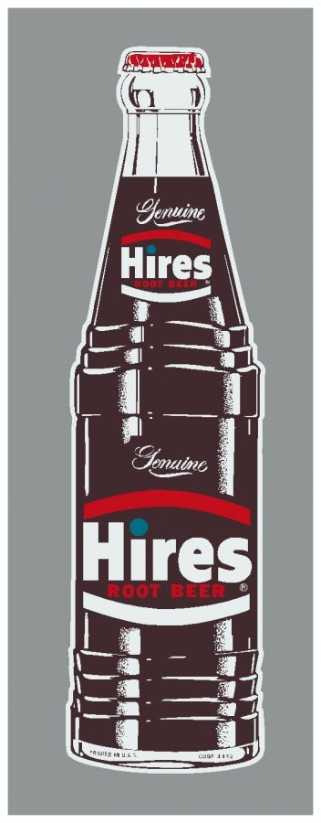 HIRES:HIR-002-Hires Bottle Decal