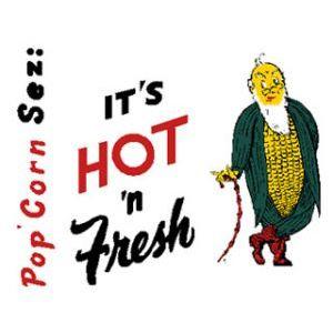 POP-001-B It's Hot n Fresh Decal