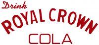 "Drink Royal Crown Cola - 10"" x 4.25"" (Pre-1950) Old Style Red Cut Vinyl"