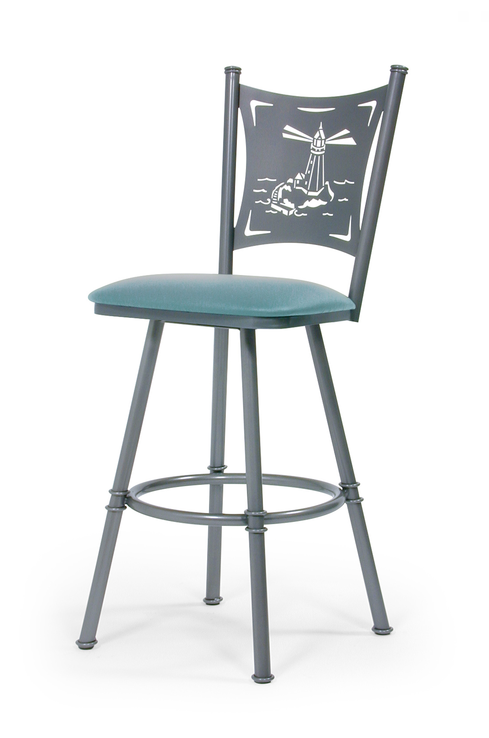 Trica Creation Swivel Stool Palm Trees Motorcycle Or Wine Backs