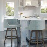 Amisco S Wayne Upholstered Wood Swivel Stool Barstool Comforts