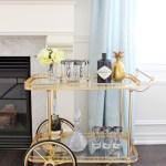 6 Best Bar Carts With Polished Brass For Your Mid Century