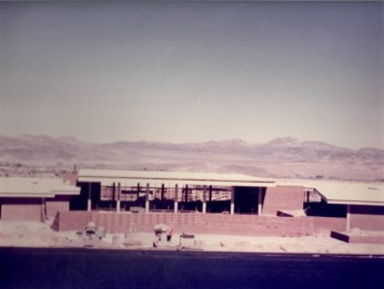 Student Services being built 1960s