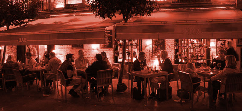 terrace night seville
