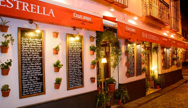 bar estrella in seville terrace
