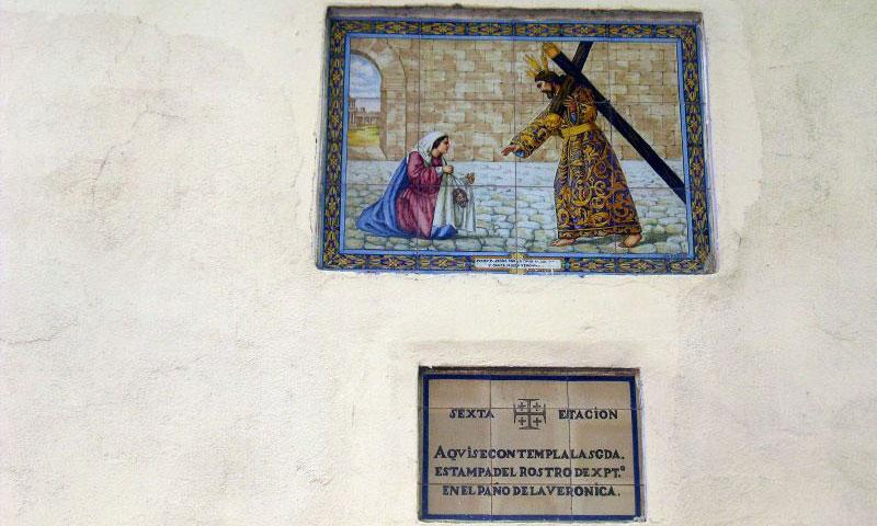 azulejos de ceramica via crucis