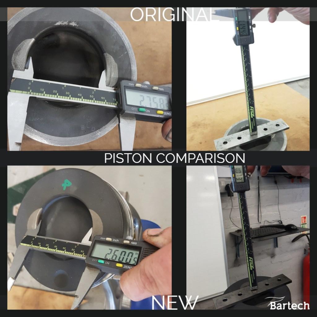 Piston compression ratio differences