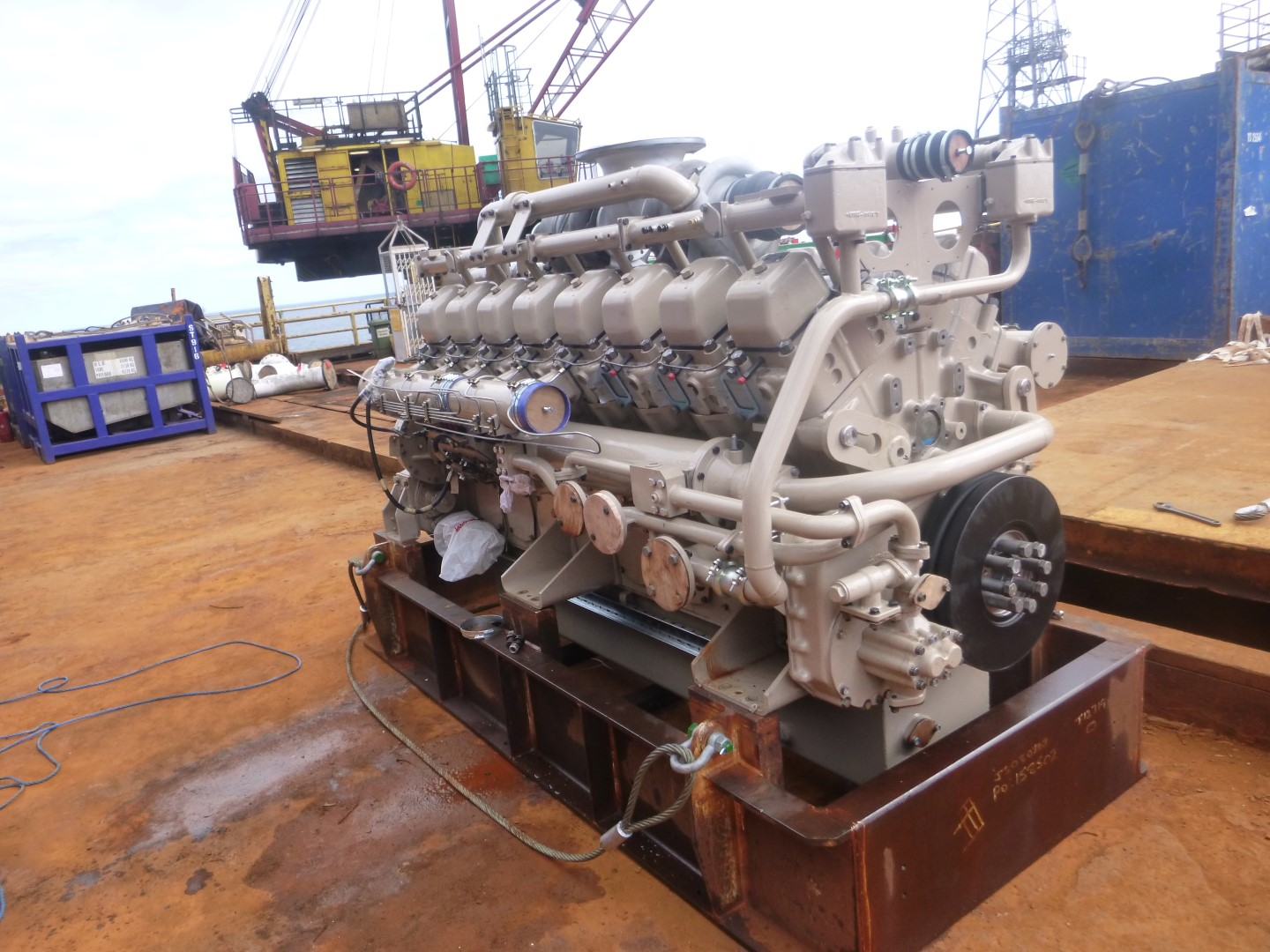 Mitsubishi Engine S16N Bartech worked on as part of the project for Fairfield Energy.