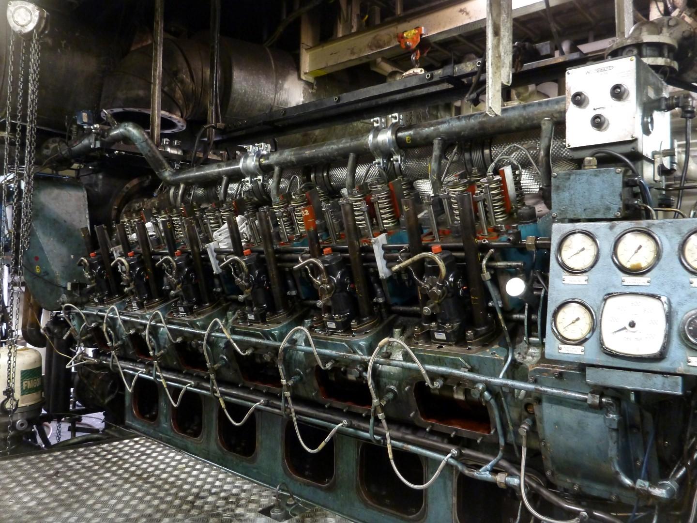 12RKC Ruston Engine before Bartech overhauled.