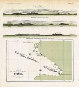 Kaart van het Oostelijk gedeelte van Borneo - Stemler (1875)