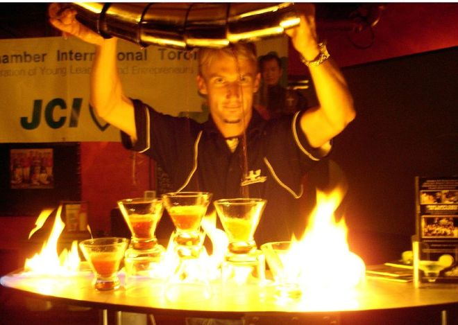 Bartender on Fire