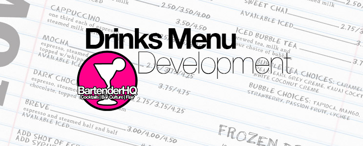 Drinks Menu Development