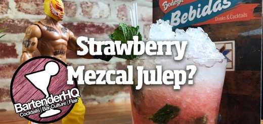 strawberry-mezcal-julep