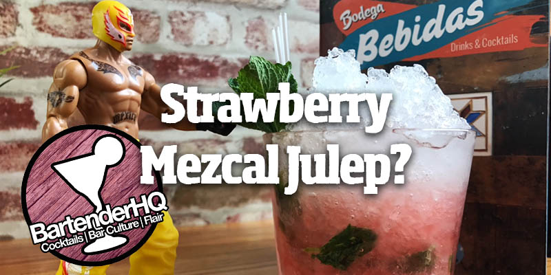 Strawberry Mezcal Julep Cocktail Recipe