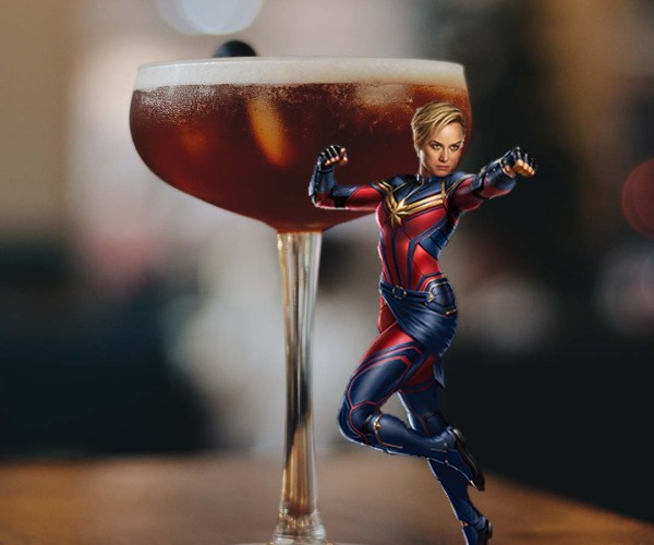 Captain Marvel Black Manhattan Cocktail Recipe