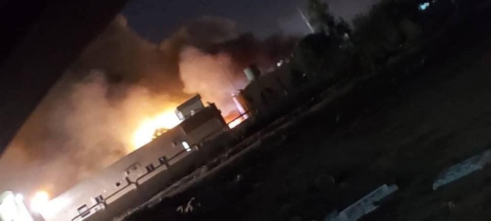 Mısrata Uluslararası Havalimanı'nda yangın