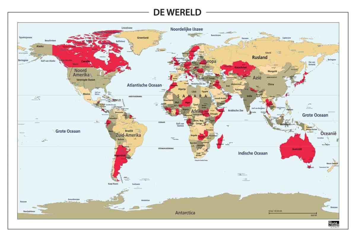 wereldkaart digitaal
