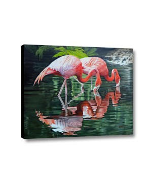 flamingos canvas 3d