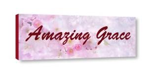 Amazing Grace sign canvas print Web