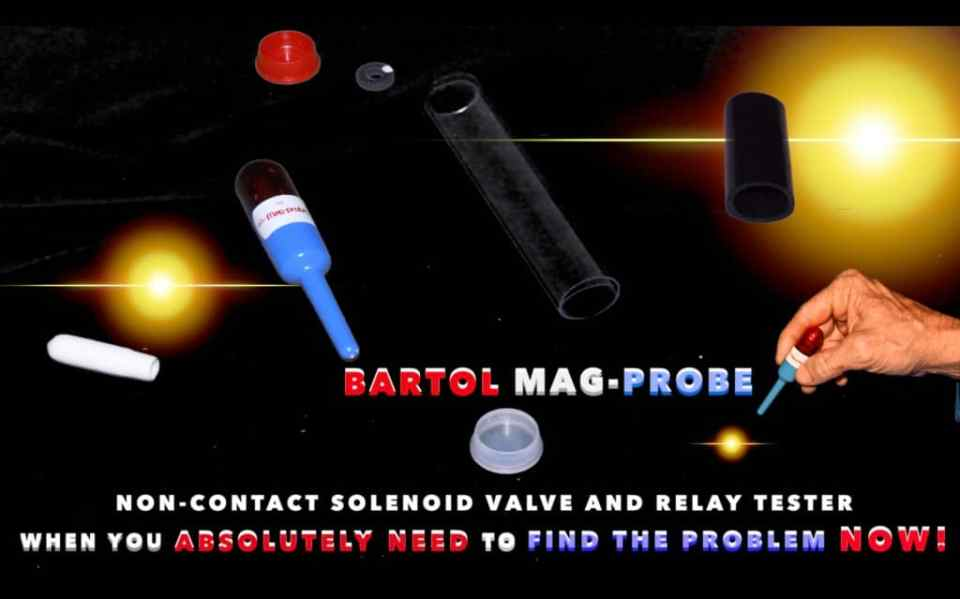 Bartol Mag-Probe Magnetic Field Tester is a Non-Contact Solenoid Valve and Relay Tester Magnetic Field Detector