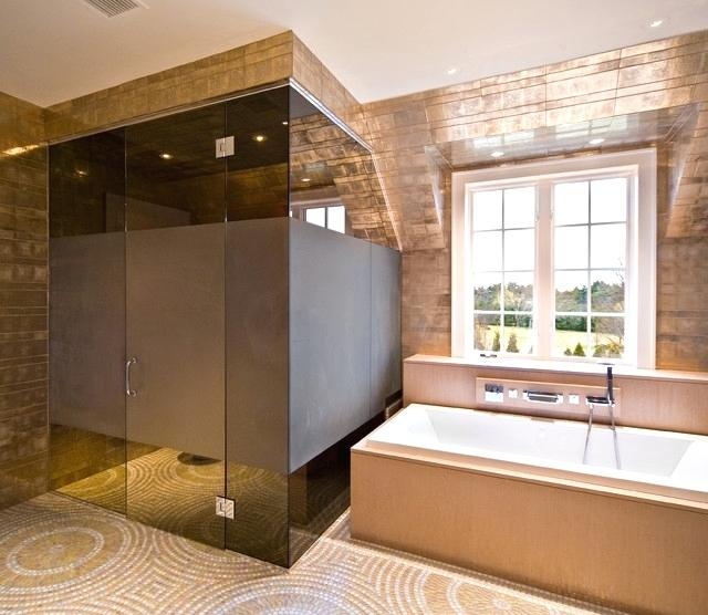 Bronze Glass in Bathrooms