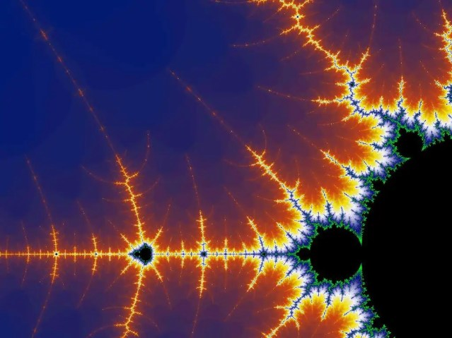 famous fractal picture ..note how from the LARGE to the SMALL the PATTERN repeats!
