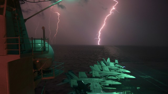 Lightning-flashes-USS-Ike