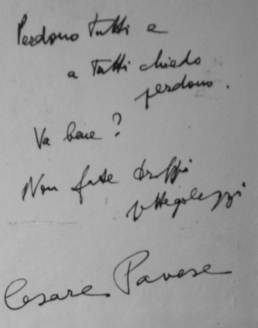 Cesare Pavese suicida